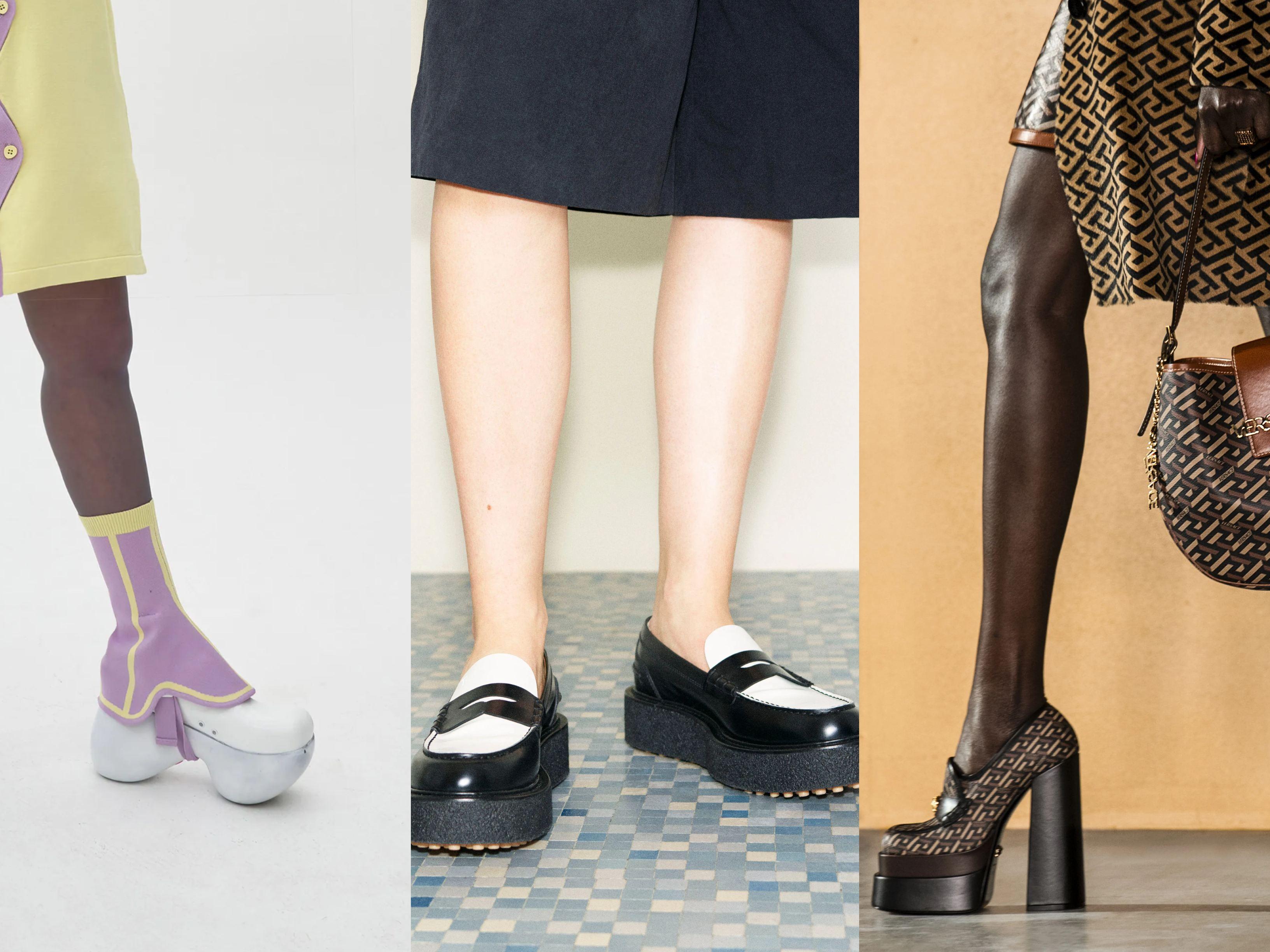Models wearing AW21 Trends Platform shoes