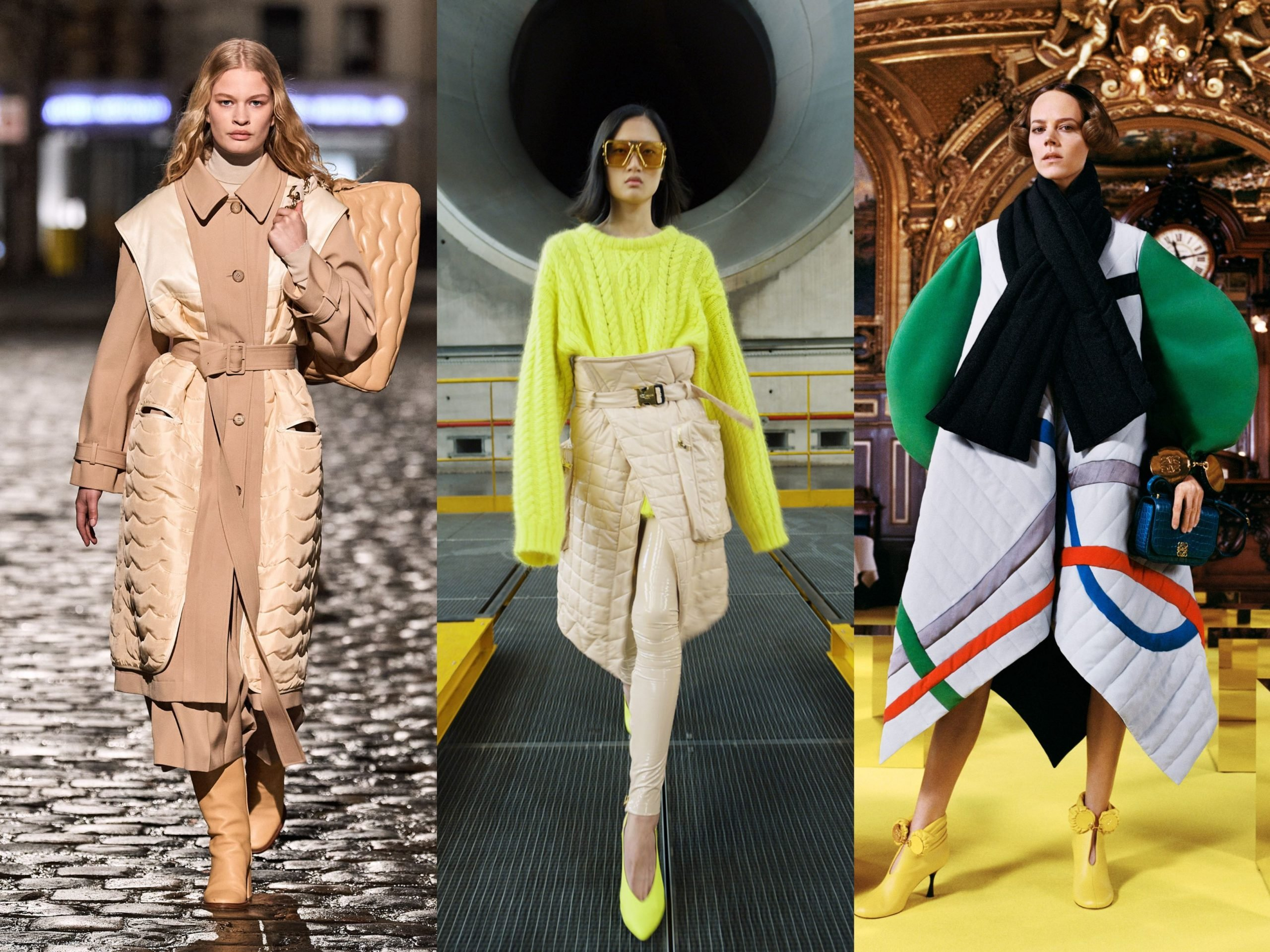 Models wearing AW21 Trends Quilted