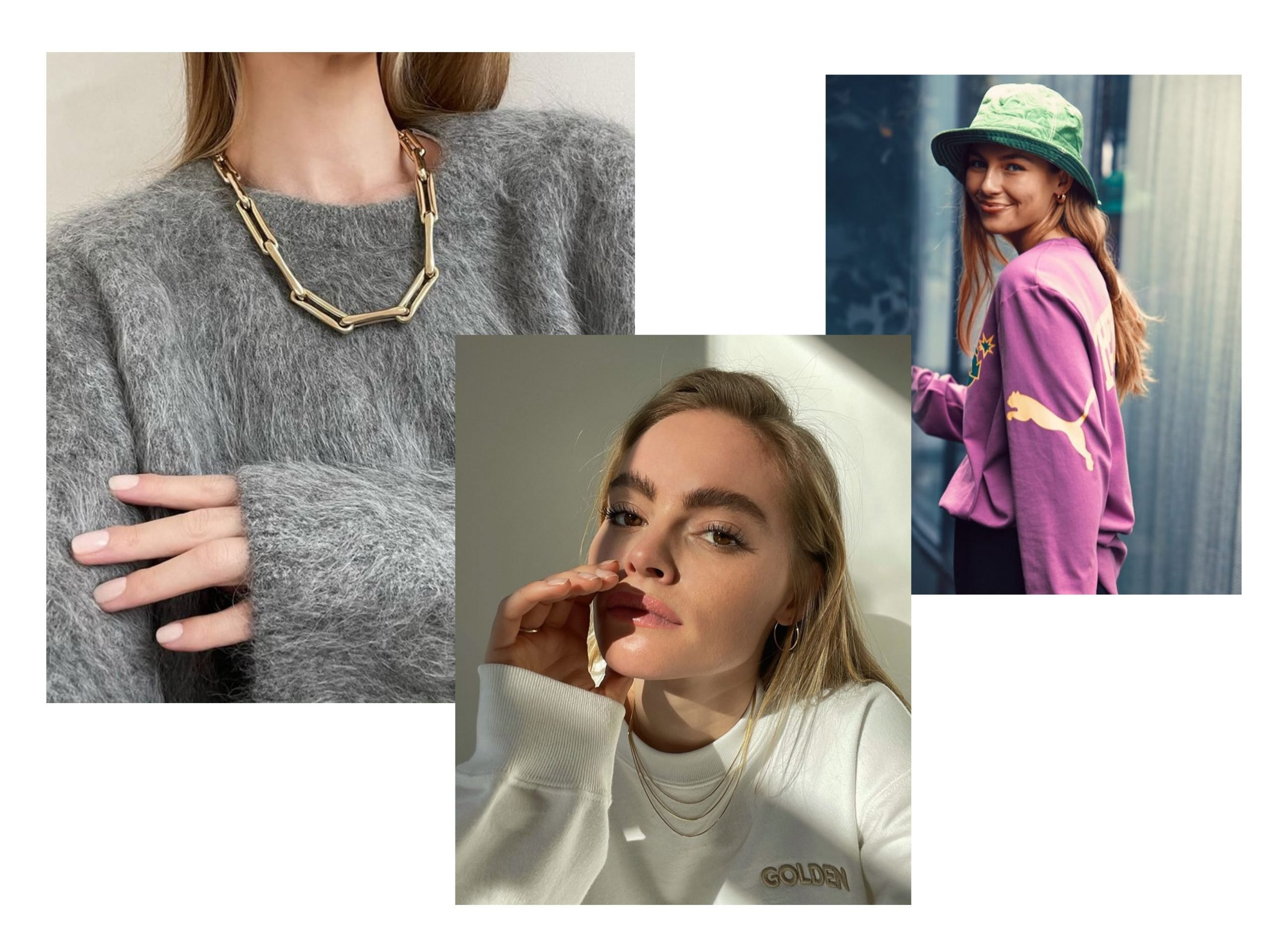 Casual clothes with jewellery