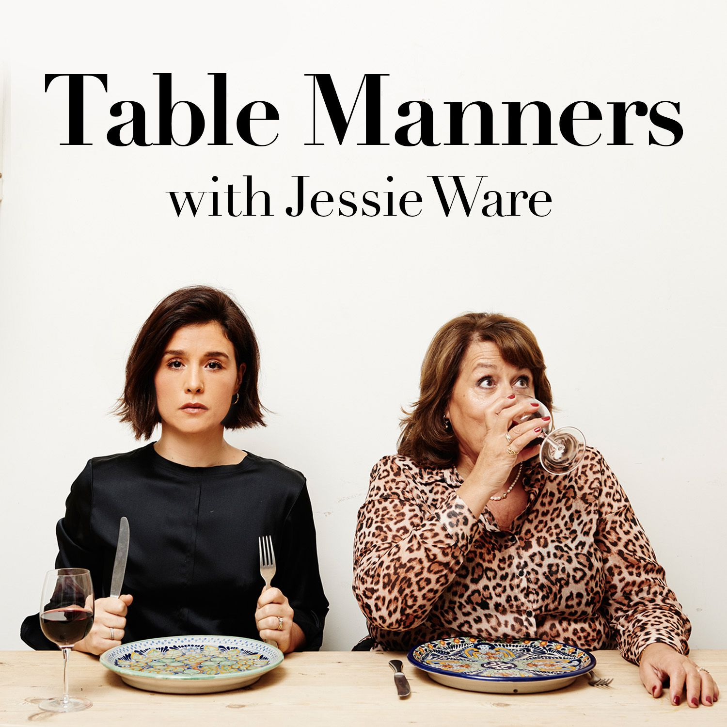 Two women sitting at a dinner table