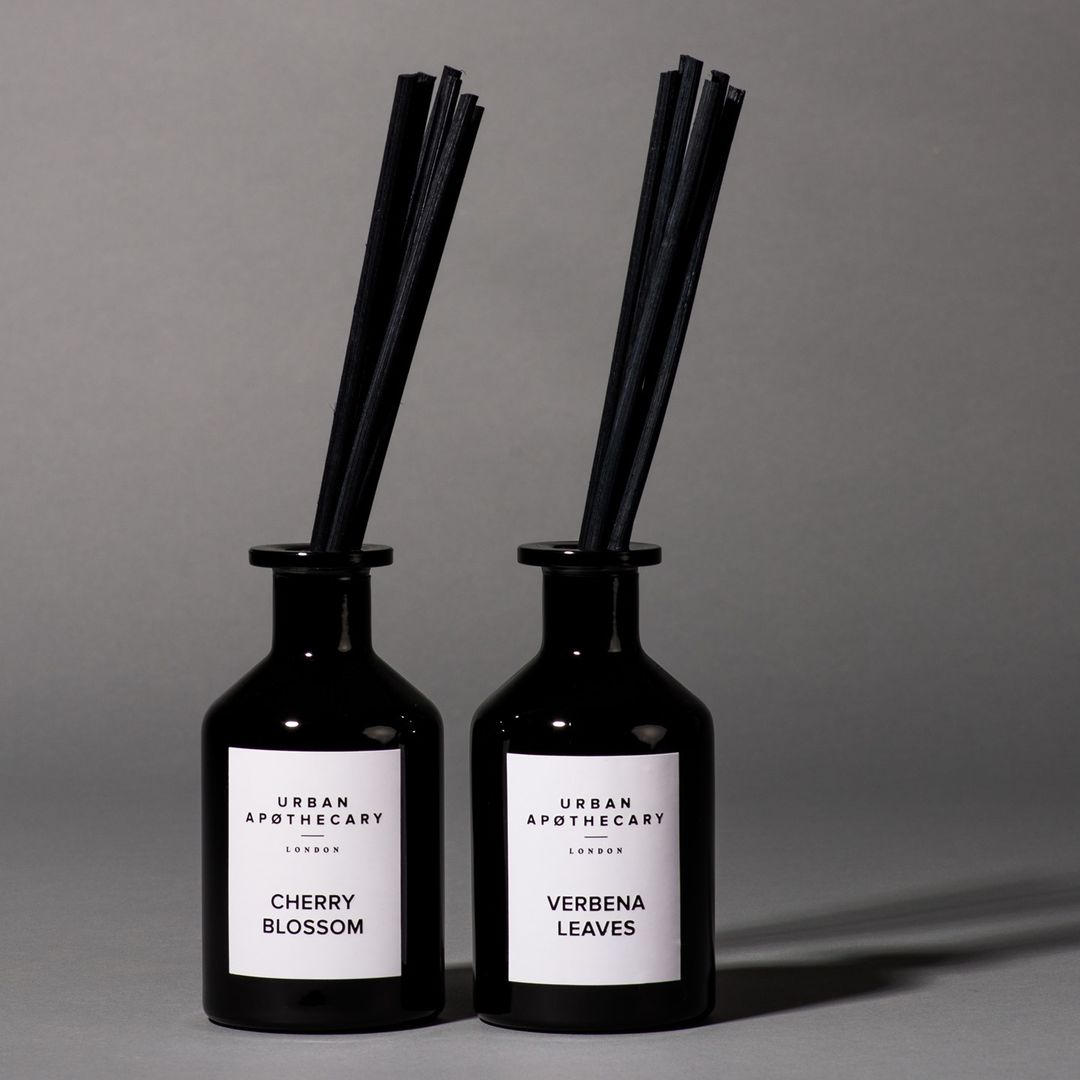 Two Black Reed Diffusers