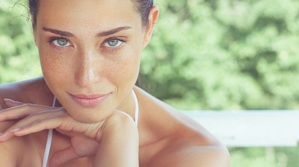 woman with healthy, glowing skin