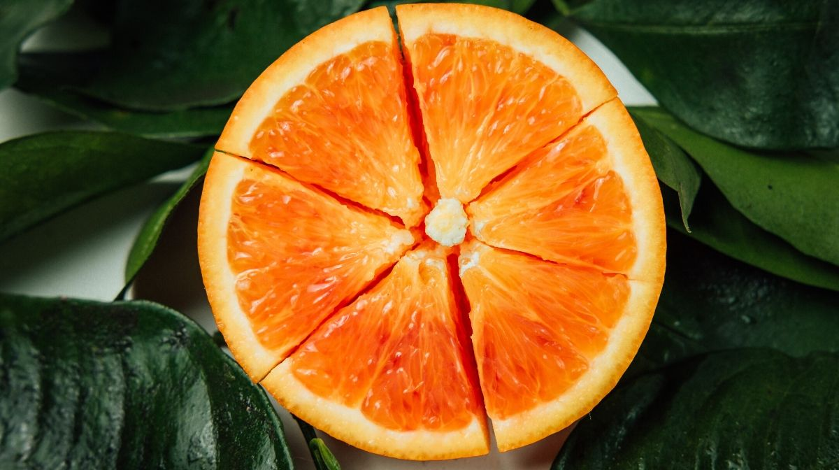 orange, packed with natural vitamin c