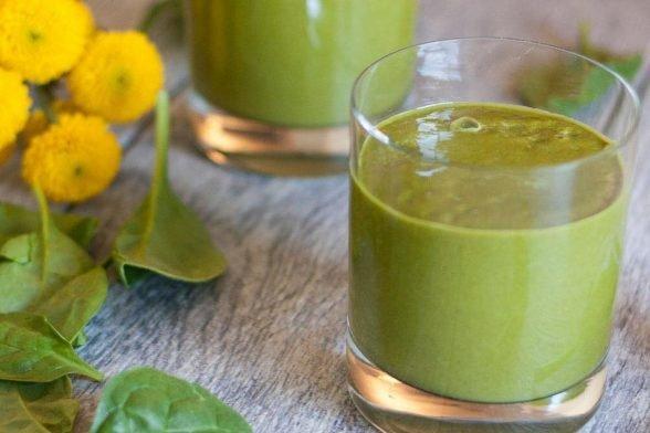 Recette de smoothie protéiné ultra-vert biologique