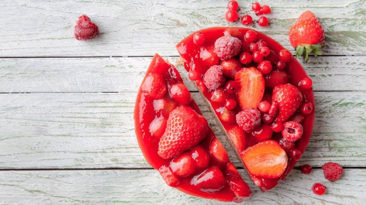 Cheesecake protéiné aux fraises