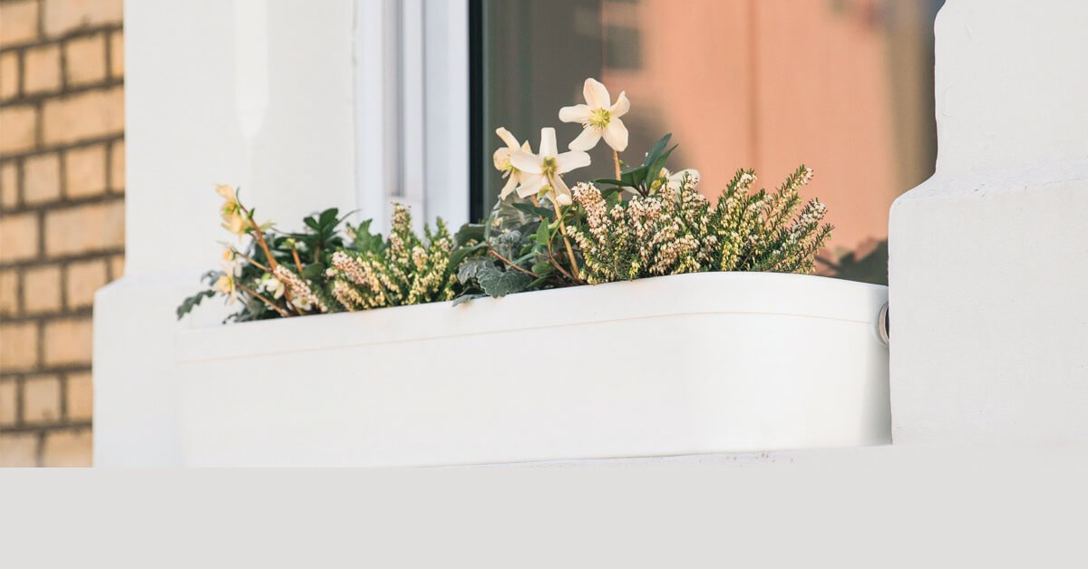 Window Fleur White plant pot