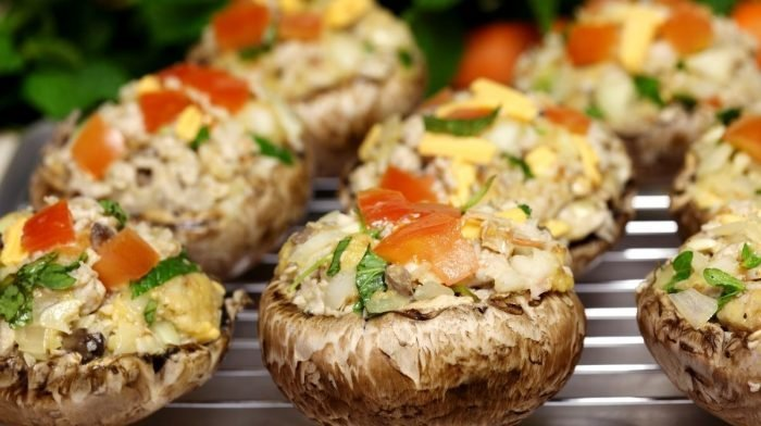 Recipe: Vegetable-Stuffed Mushrooms
