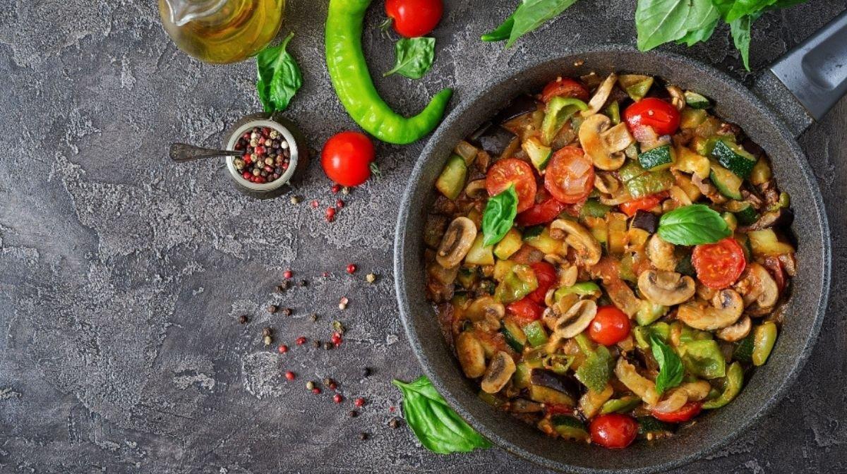 Recipe: Aubergine & Mushroom Ratatouille