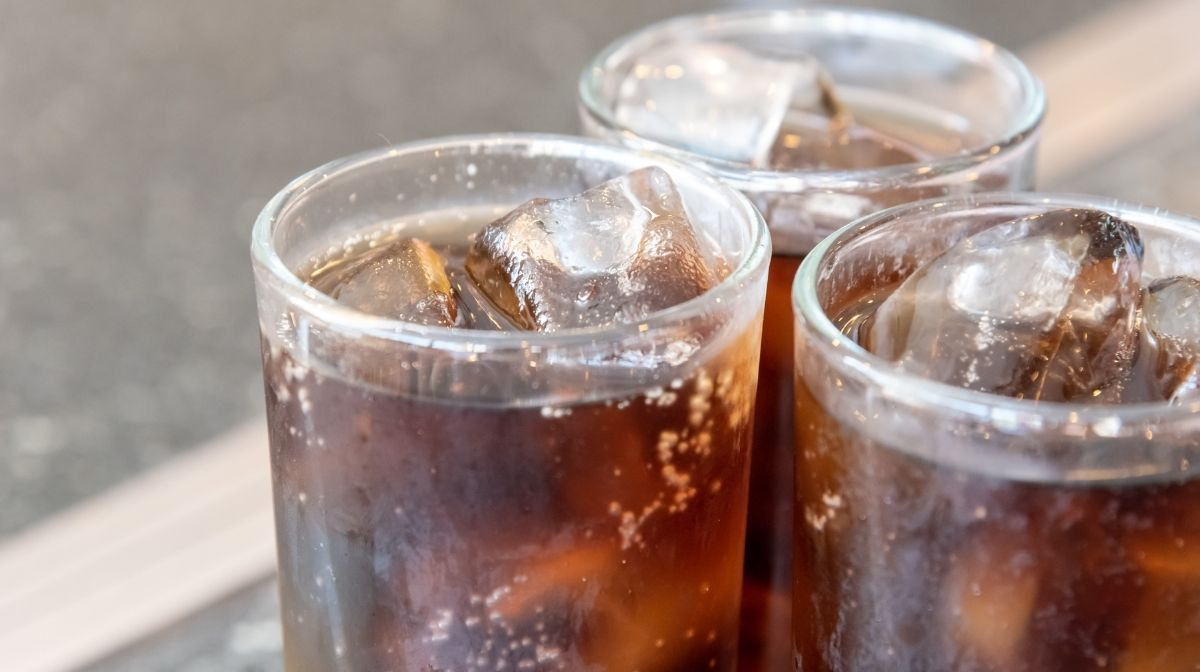 glasses of fizzy drink