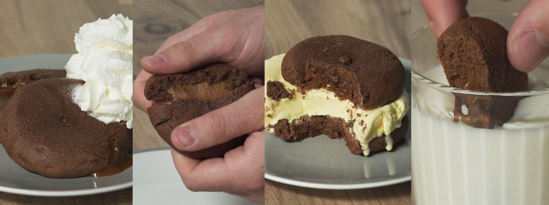 Plněné proteinové cookies na 4 způsoby | Už jste je zkoušeli rozpůlit?