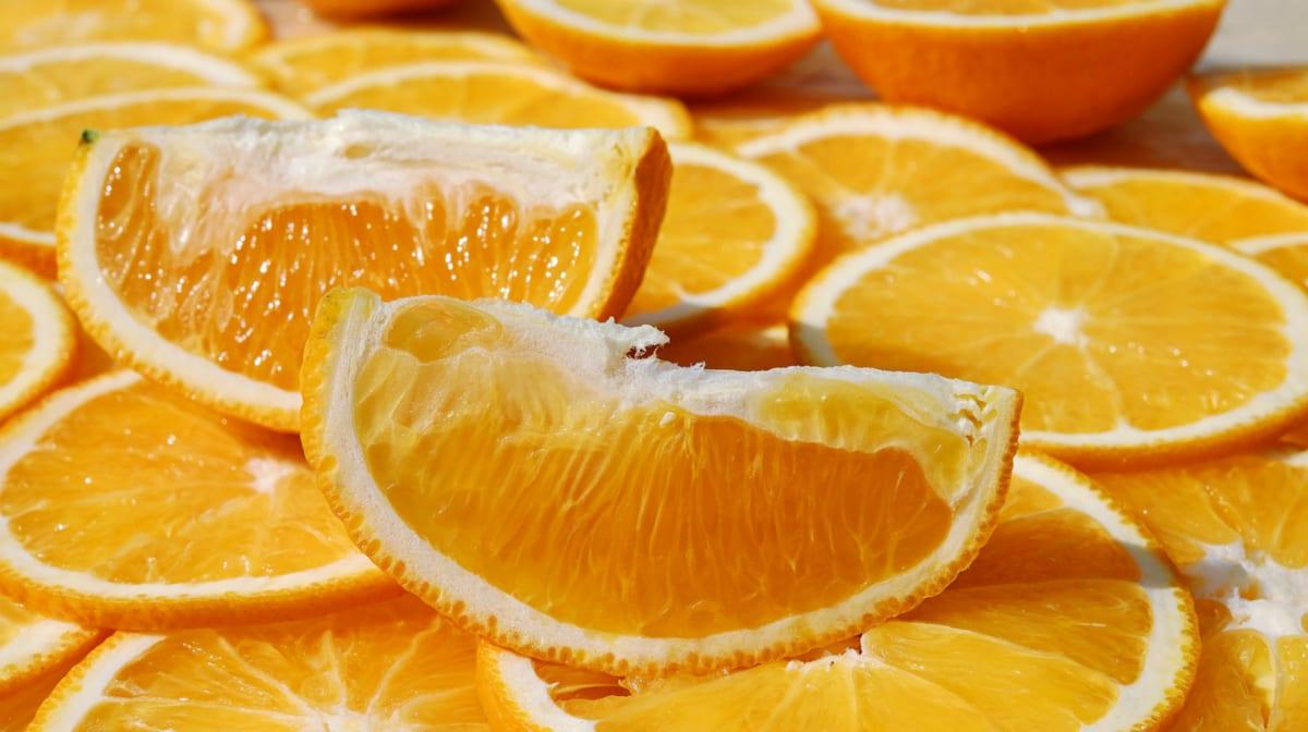 nakrájené pomeranče