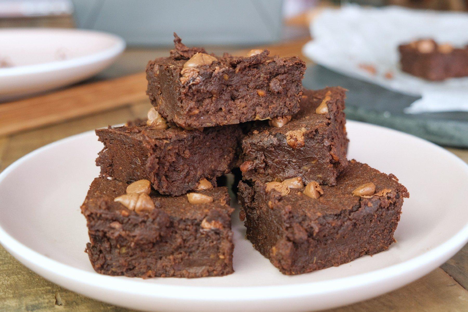 Batátové brownies zpěti ingrediencí | Bez mouky
