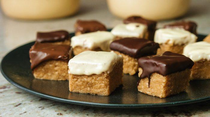 Nepečené cookie dough čtverečky