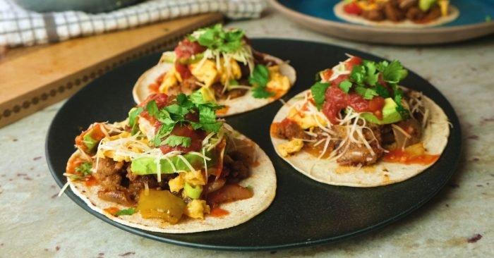 Snídaňové tacos | Snídaně svysokým obsahem bílkovin