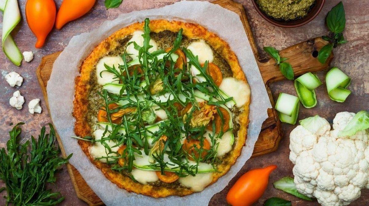 Masa de pizza proteica