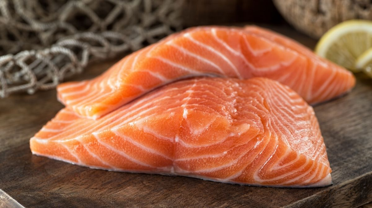salmon fillets, a source of omega-3 essential fatty acids