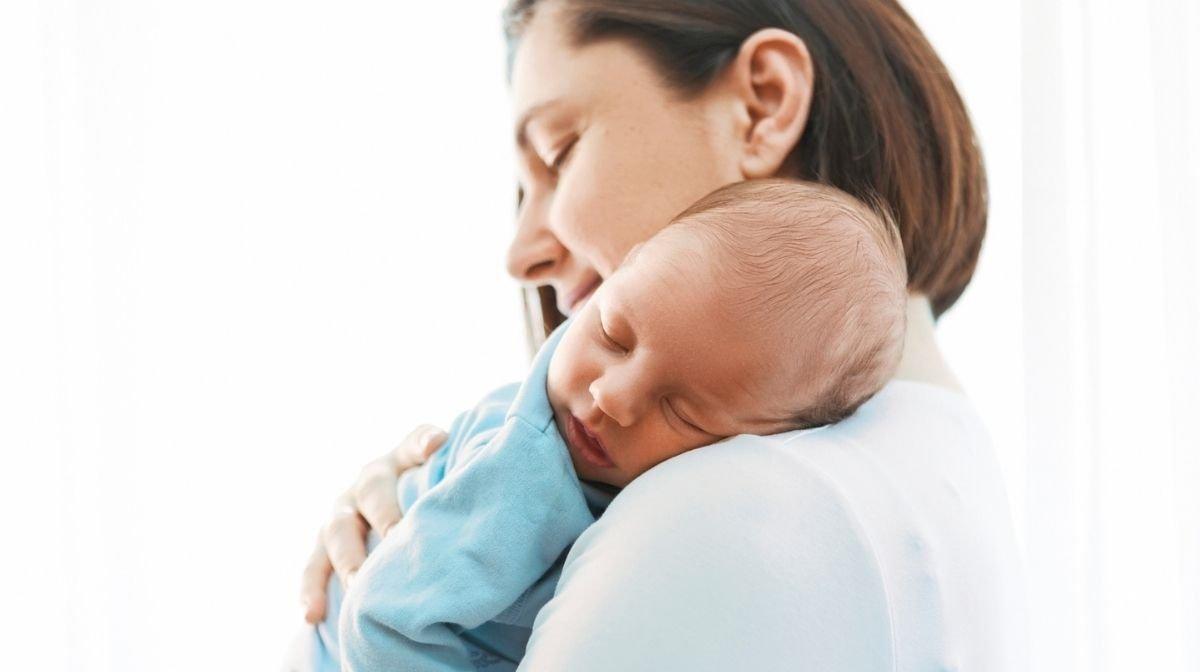 mum holding newborn baby
