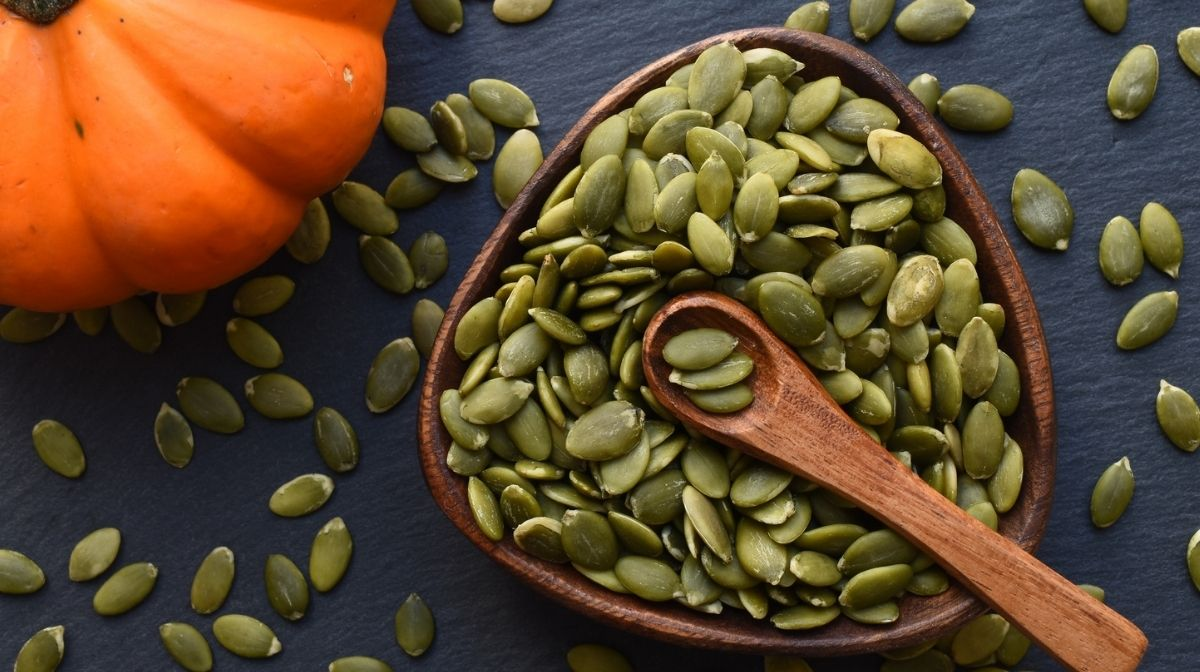 pumpkin seeds, a source of omega-3