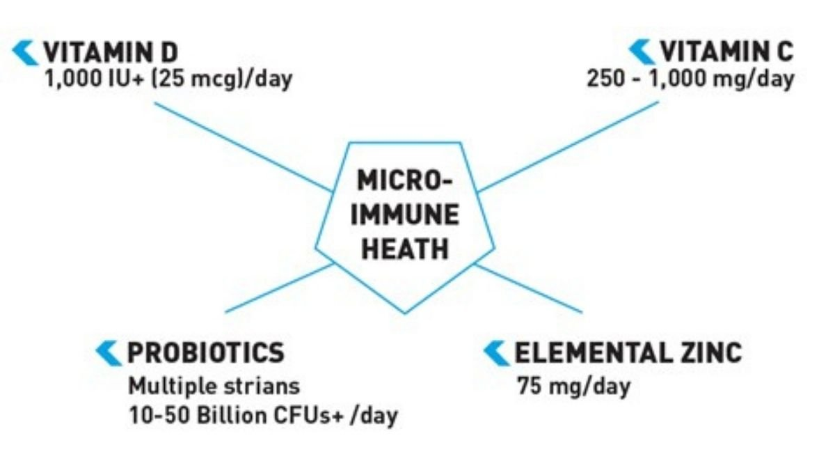 Infographic showing details of each macro nutrient.