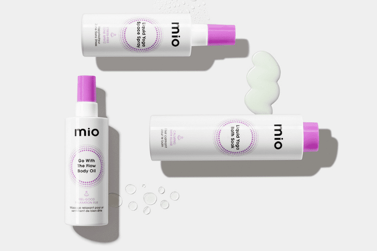 mio liquid yoga products with swatches