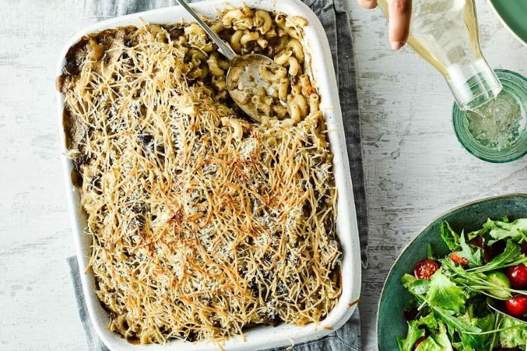 vegan mushroom mac and cheese