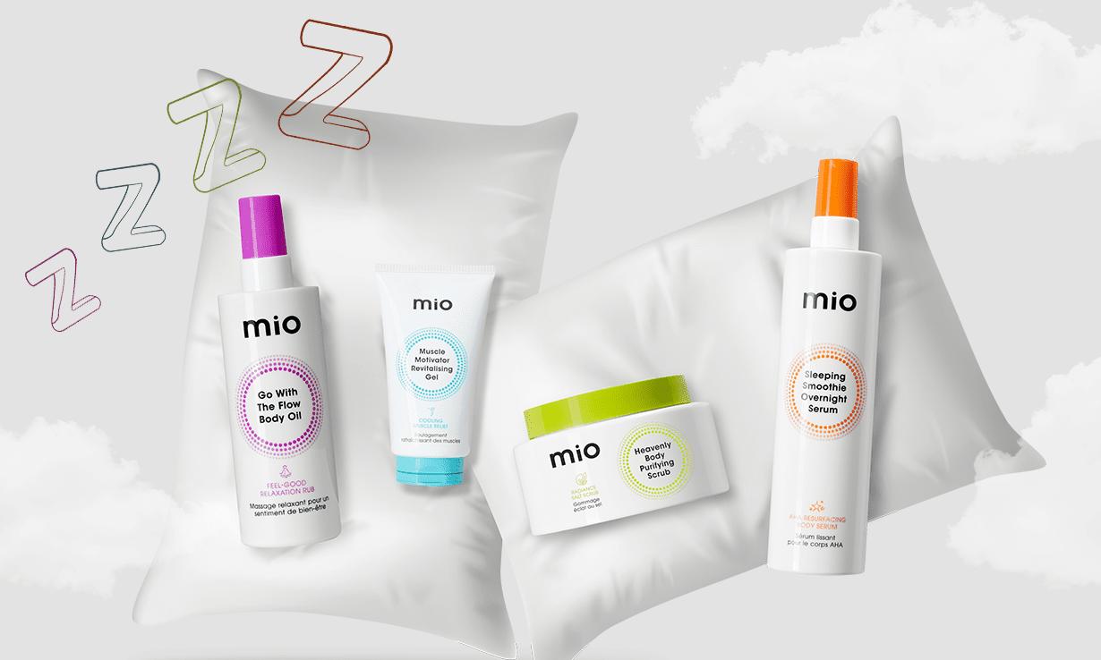 mio skincare to help you sleep