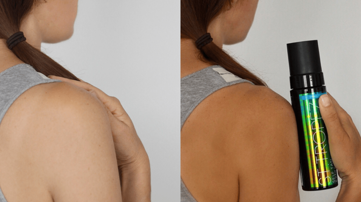 how to fake tan your back