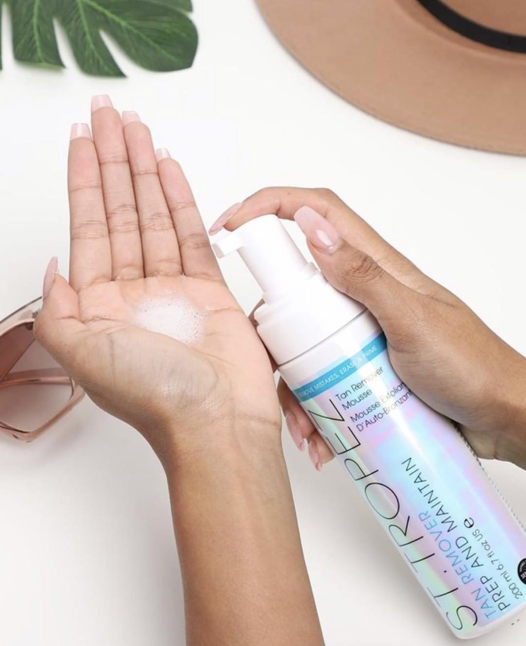 how to get fake tan off hands