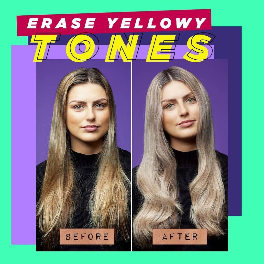 Toning Yellow Hair with Purple Shampoo