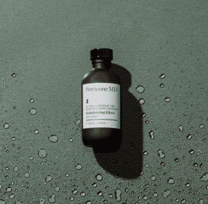 Sensitive therapy bottle on a wet green backdrop