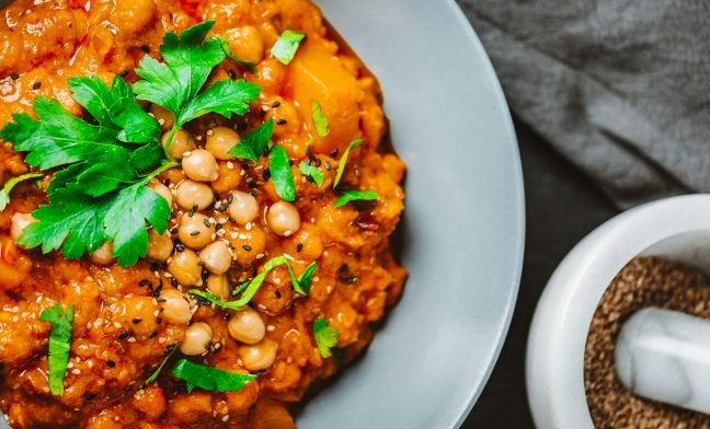 Chana Masala with Watercress Recipe