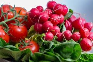 Italian summer salad with fresh vegetables