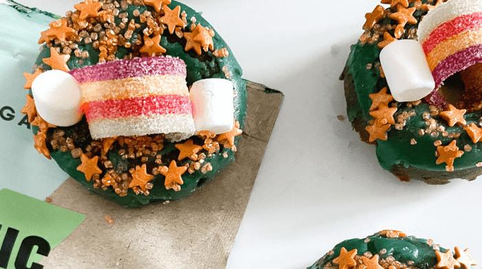 Vegan Rainbow Donuts | St Patrick's Day Recipe