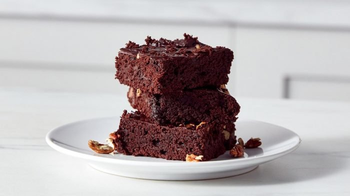 Vegan Chocolate & Walnut Protein Brownies