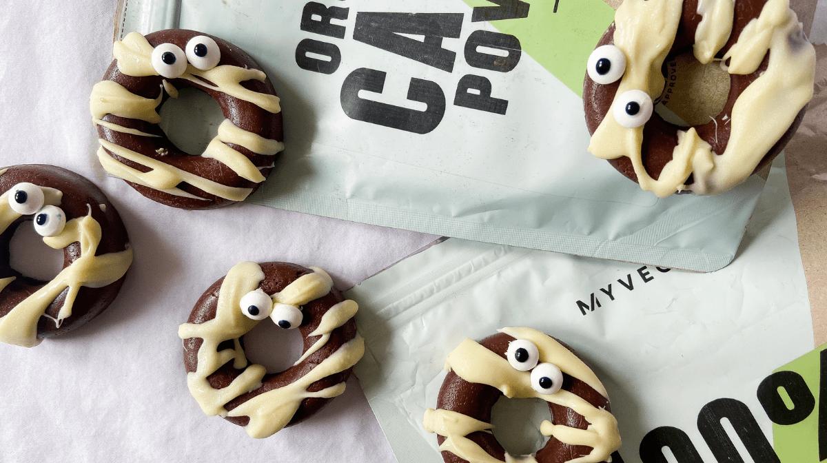 Chocolate Mummy Donuts | Vegan Halloween Recipe