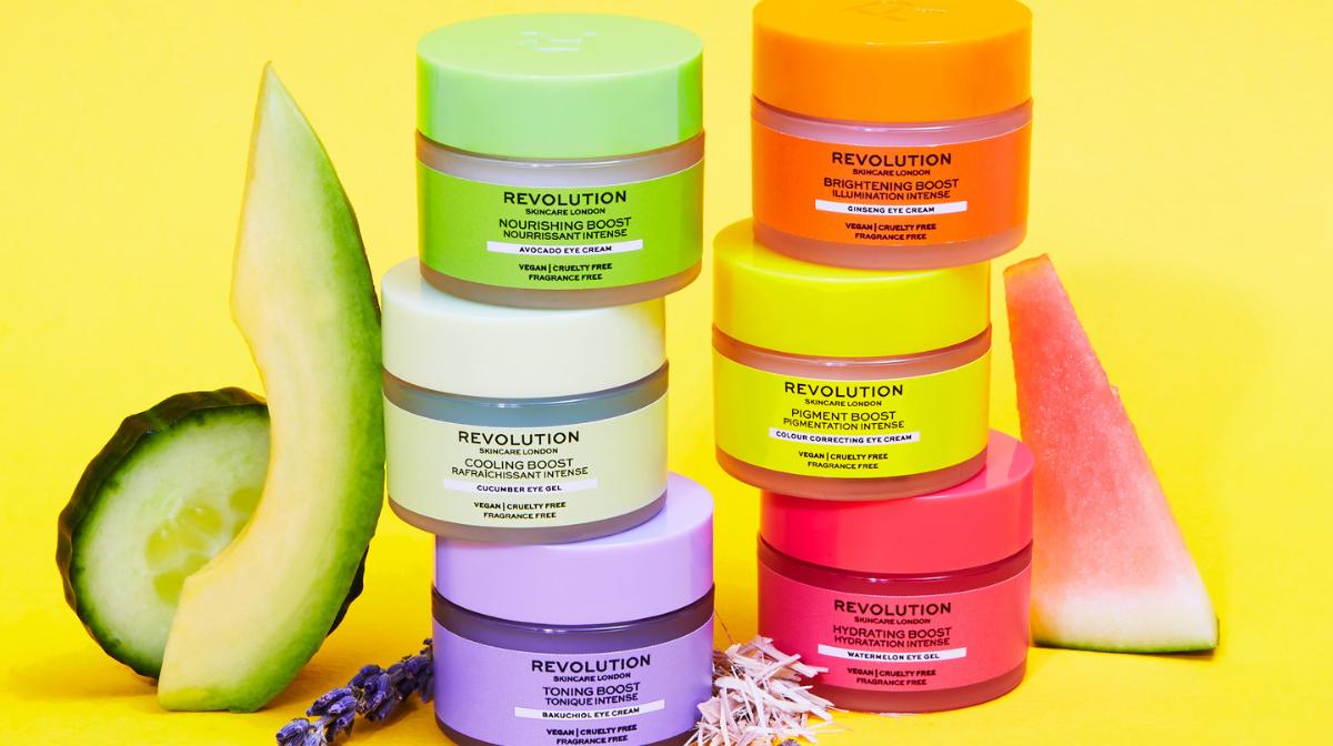 stack of revolution skincare eye creams