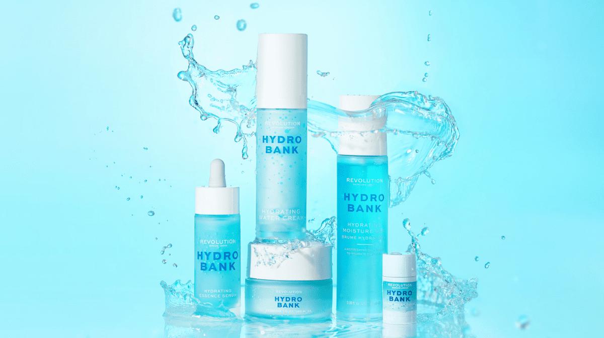 bottles of Revolution Skincare for dry skin