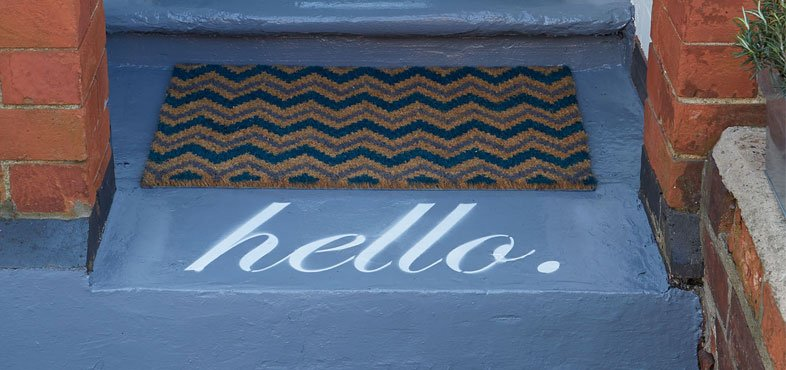 doorstep painted image
