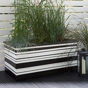 Black & white monochrome planter