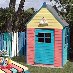 Painted wendy house