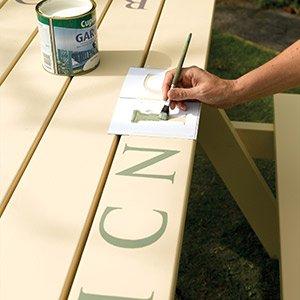 Use stencil paint