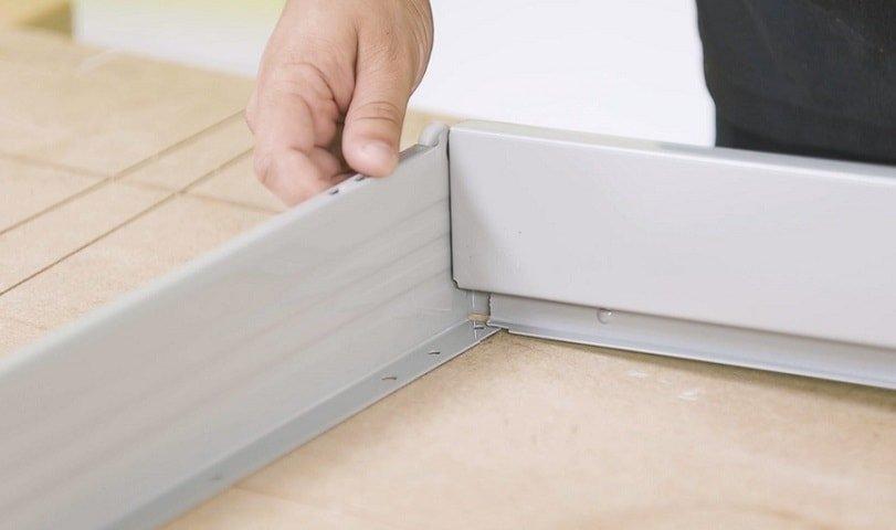 Slot drawer panels together