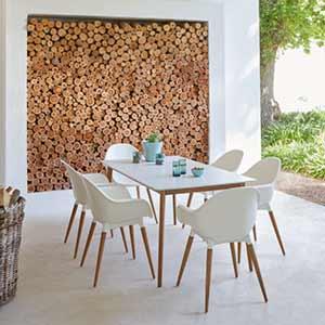 Homebase white outdoor garden furniture