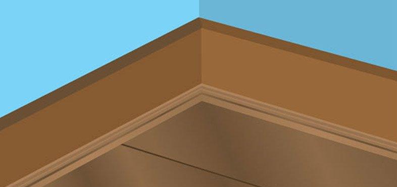 Fix a scotia or quadrant around the perimeters of the room