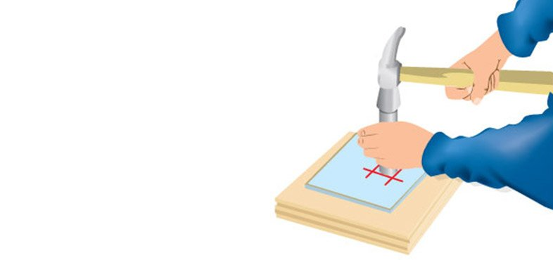 use a tile cutter to help cut around pipes