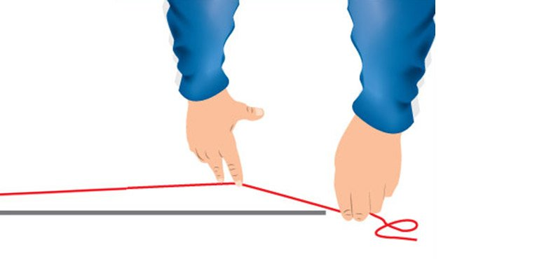 Mark a chalk line down the centre of the room
