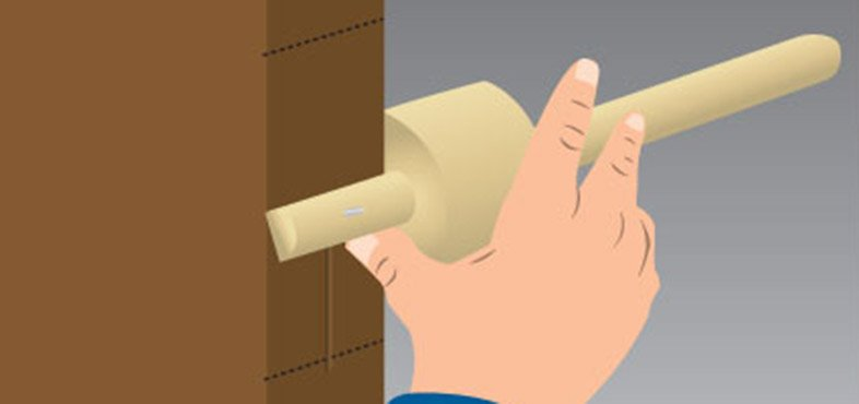 use a marking gauge to mark the lock position