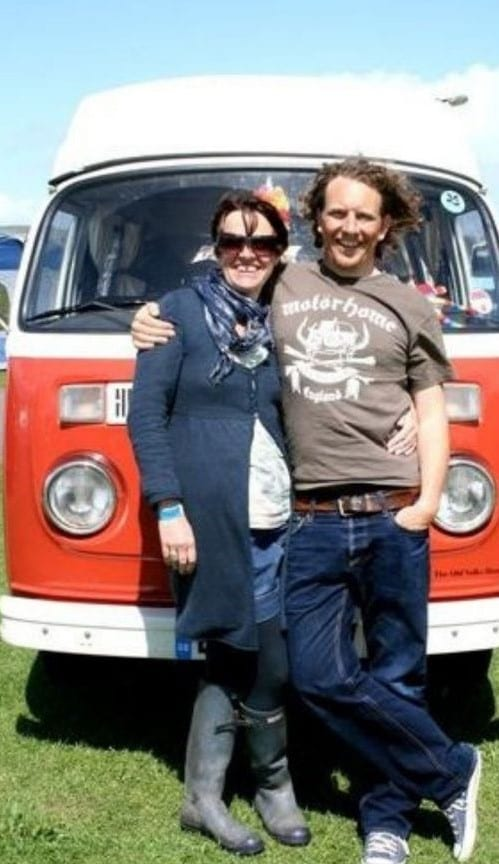 Man and Women with campervan