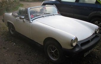 MG White Midget Car
