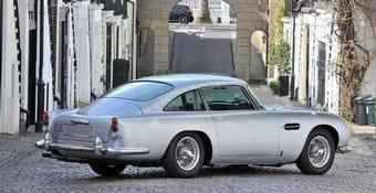 Silver Aston Martin Car